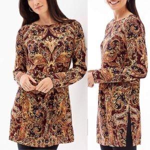 J. Jill tunic autumn paisley print blouse